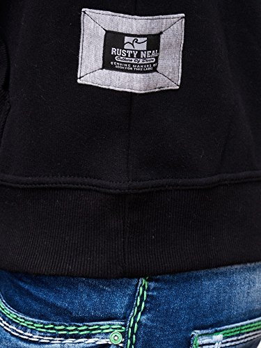 Rusty Neal Herren Kapuzenpullover Sweatshirt Pullover Hoodie Sweater RN-19044 Anthrazit