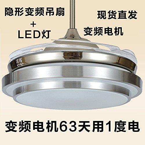 Licht Lüfter Decke (sdkky Wohnzimmer Lichter, Lüfter LED Lichter, Restaurant Moderner Kronleuchter, 42Zoll, unsichtbare Schlafräume, Ventilatoren A Decke, Lampen)
