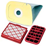 10 Premium Staubsaugerbeutel inkl. Hepafilter H12 und Motorschutzfilter - Hygienisches Synthetikmaterial - Perfekt angepasst für Lux D820 - Garantierte Bestleistung beim Saugen