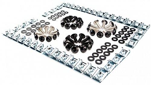 Werkstatt Schrauben Set in schwarz + Unterlegscheiben aus Kunststoff + Klemmen