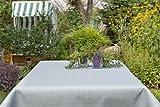 Garten-Tischdecke ABWASCHBAR mit Acryl und BLEIBAND, Form und Größe sowie Farbe wählbar, Maße: 160x220 cm Eckig silbergrau Oslo