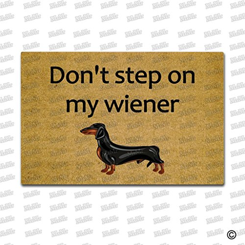 msmr entrada Felpudo–Felpudo no paso en mi Wiener puerta Mat Interior y Exterior para alfombra de goma Tela no tejida Top 15,7x 23,6pulgadas