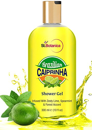 St.Botanica Brazilian Caiprinha Luxury Shower Gel, Lime, Spearmint and Forest Accord, 300ml