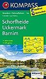 Schorfheide - Uckermark - Barnim: Wanderkarte mit Aktiv Guide und Radwegen. GPS-genau. 1:50000: Wandelkaart 1:50 000 (KOMPASS-Wanderkarten, Band 744)