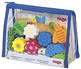 Haba 1971 - Bambini Perlen Blumen| Hübsches Fädelspiel ab 3 Jahren | Mit großen Holzperlen in schönen Farben und Formen