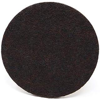 Adsamm® 4 x Felt-pads | Ø 3.94'' (Ø 100 mm) | brown | round | self-adhesive furniture glides in premium-quality by