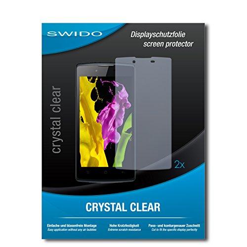 SWIDO Schutzfolie für Oppo Neo 5 [2 Stück] Kristall-Klar, Hoher Härtegrad, Schutz vor Öl, Staub & Kratzer/Glasfolie, Bildschirmschutz, Bildschirmschutzfolie, Panzerglas-Folie