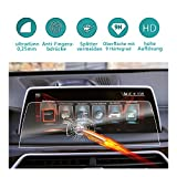 RUIYA Protector de pantalla de vidrio templado para 2015-2018 BMW 7er (G11)(G12) iDrive NBT sistema de navegación y Tablero,Crystal Clear HD película protectora[10,25 Pulgadas]