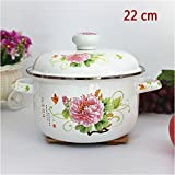 XiangYan Engrosamiento de esmalte olla, puede cocinar arroz, estufa de gas y cocina de induccion, una variedad de estilos y tamaños,C-22cm
