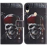 TienJueShi Totenkopf Flip Book Stand Brieftasche Leder Tasche Schütz Hülle Handy Telefon Case Für Cubot R15 6.26 inch Abdeckung Fall Wallet Cover Etüi