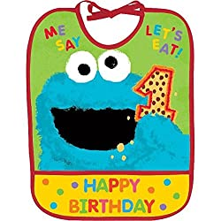 Sesame 1st Birthday Bib|1 pc