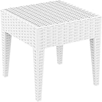 [Patrocinado]resol Ipanema - Mesa Auxiliar, plástico, Blanco, 45 x 45 x 45 cm