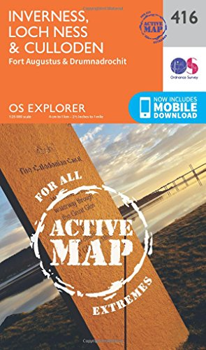 Inverness, Loch Ness and Culloden (OS Explorer Active Map)