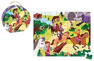 Janod - J02876 - Valisette Puzzle Equitation 100 pcs