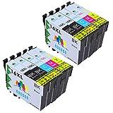 GUCOCO Hohe Kapazität 10 Multipack Packung Epson 16 XL Kompatible Tintenpatronen für Epson Workforce WF-2630 WF-2660 WF-2760 WF-2510 WF-2750 WF-2540 WF-2530 WF-2010 WF-2650 Drucker (4 Schwarz, 2 Cyan, 2 Magenta, 2 Gelb)