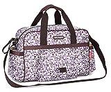 Chilsuessy Baby Wickeltasche Reisen Tasche Handtasche, großes Fassungsvermögen, Isolierung, Passform für Kinderwagen, Windel Rucksack Tragetasche, lila