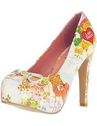 Iron FistChange Your Spots Platform Bootie - Zapatos con tacón mujer, color Amarillo, talla 35.5