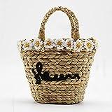 GC Blumenstrohsack, Handgewebte Tasche, Handtasche, Ein-Schulter-Tasche