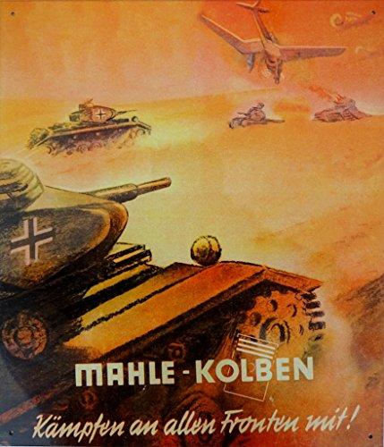 BLECHSCHILD Mahle Kolben Panzer II. Weltkrieg