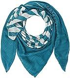 Calvin Klein Damen Schal Square Logo Scarf, Blau (Enamel Blue 429), One Size (Herstellergröße: OS)