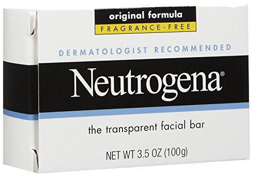 Neutrogena Transparent Facial Soap, Original Formula, Fragrance Free - 3.5 Oz (Pack Of 5)