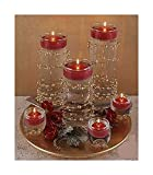#9: Nugget Floating Candles (pack of 27) perfect for New year, Candle light dinner, Valentines day, Anniversary, Birthday.