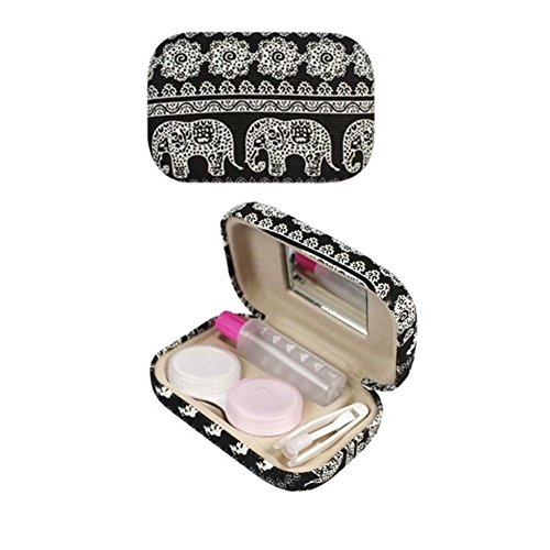 swirlcolor-bohemia-elephant-print-contact-lens-case-contact-lens-travel-case-with-mirror