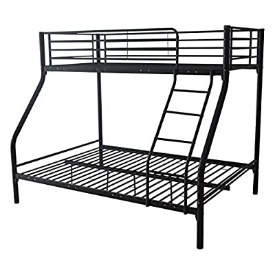 Safekom New Metal Bunk Bed Single Double Triple Children Kids Sleeper Frame No Mattress - cheap UK light store.