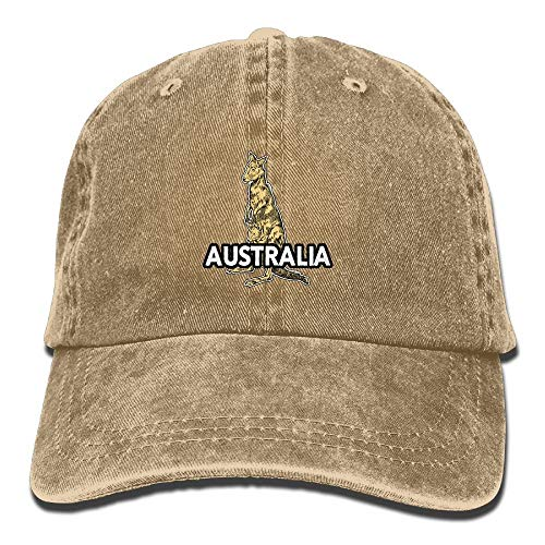 a07bb495dc4295 Desing shop Stone Australian Kangaroo Adjustable Adult Cowboy Hat Baseball  Cap For Men and Women