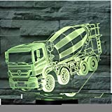 JYHW 3D Led Night Light fango arbusto auto con 7 colori di luce per la decorazione domestica Lampada Amazing Visualization Optical Illusion Awesome