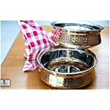 CWC SET OF 2 HAMMERED COPPER TUREEN (HANDI DONGA) ONE SMALL AND ONE BIG A PERFECT SET OF 2