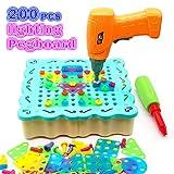 Nuheby Jeu Construction Enfant Mosaique Enfant Jeu Bricolage Jouet Montessori Mosaique Loisir Creatif Jeu Educatif Jeux de Société Puzzle Enfant 3 ,4,5,6 Ans