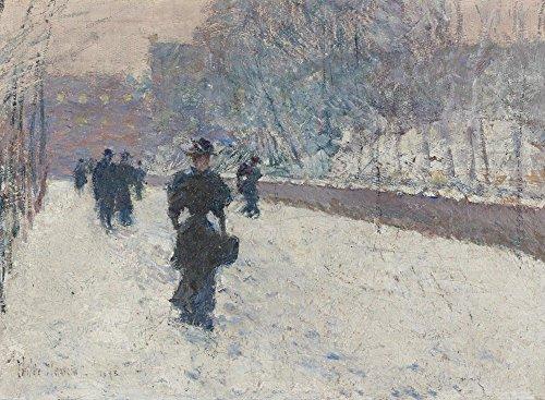 Das Museum Outlet-Die Promenade, Winter in New York, 1895, gespannte Leinwand Galerie verpackt. 29,7x 41,9cm