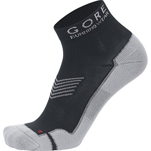 GORE RUNNING WEAR, Calcetines tobilleros para correr, Hombre, Anatómicos, GORE Selected Fabrics, ESSENTIAL, Talla 41-43, Negro, FEESSE990004