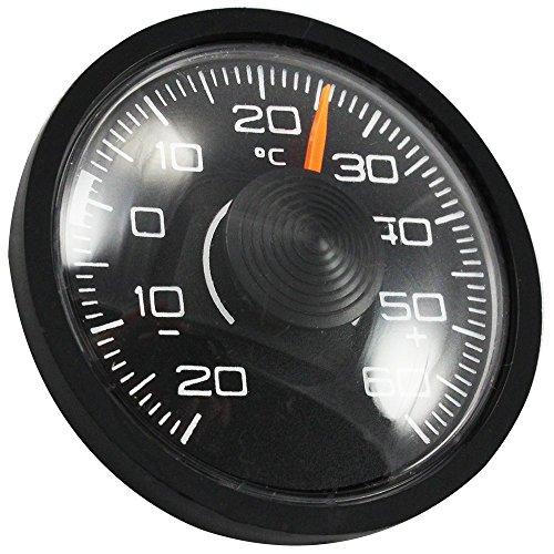 """Preisvergleich Produktbild COM-FOUR Innen-Thermometer """"Slim"""" für Auto, Heim, Camping, uvm., Ø 46 mm x 12 mm, von - 20° C bis + 60° C"""