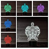 3D night light new design sea turtles night lamps 7 cambia colori Remote control control regalo per sea festival creativo regalo di compleanno per bambini amico