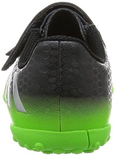 adidas Messi 16.4 Tf J H&L, Scarpe da Calcio Bambino Nero (Dark Grey/silver Metallic/solar Green)