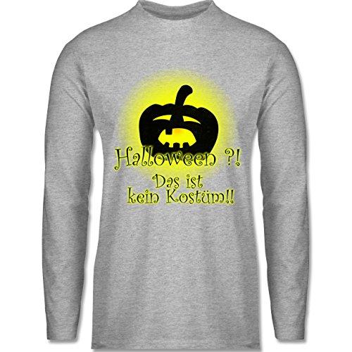 Shirtracer Halloween - Kein Halloweenkostüm - Herren Langarmshirt Grau Meliert