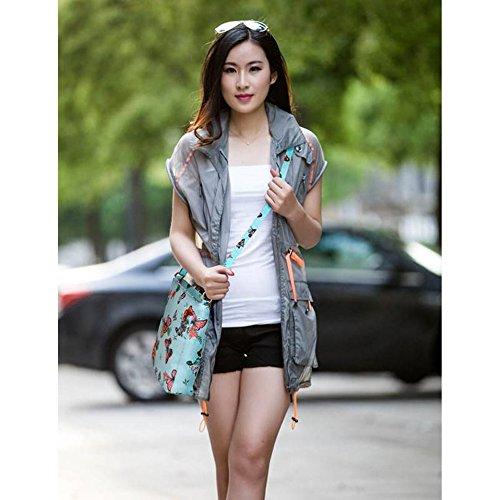 LeahWard® Kreuzkörper Schmetterling Taschen nett Groß Schulter Handtaschen 481 Blau