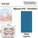 Profond Lagon Versafine Tsukineko Détails Fins Pigment Encre Tampon Pour Timbre En Caoutchouc Séchage Rapide