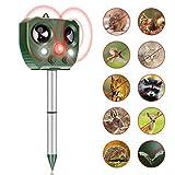 Chasehill Cat Fox Repellent Solar Power Ultrasonic Animal Repellent, Battery Power Outdoor Waterproof