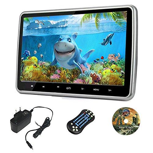 10.1 Inch HD Digital und Breitbildschirm, Super-Dünn Auto Kopfstütze, DVD Spieler mit USB und SD, Drahtloses Spiel, Hdmi und AC Adapter 100-240v