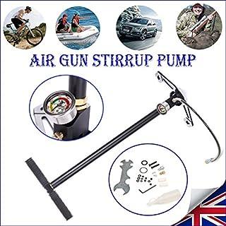 AutoBaBa 3 Stage Stirrup Charger PCP Hand Pump Air Gun Rifle Airrifle Gas Filter Gauge 4500PSI