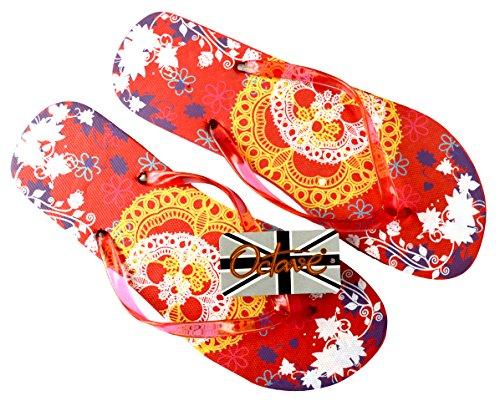 Octave , Tongs pour femme Orange - Lace Design - Orange