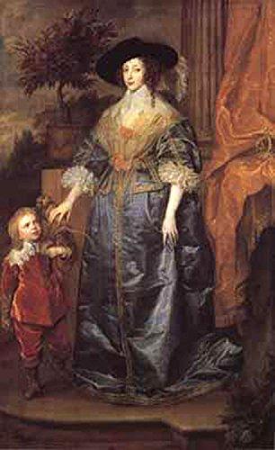 Portrait of queen henrietta maria with sir jeffrey,Anthony Van Dyck