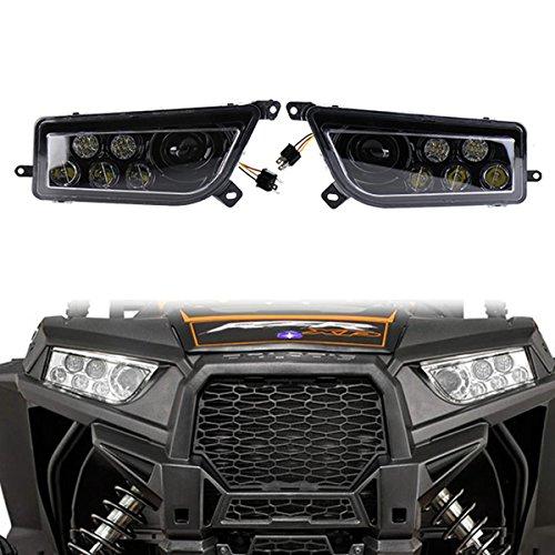 chwarz lünette Plug & Play 30 Watt ATV led scheinwerfer Hallo / Lo strahl 10-30 v 3450lm für Polaris Ranger 2014-2016 (Ranger Zubehör)