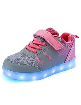 ZAMAC LED Schuhe 7 Farben LED USB Rechargable Leuchten Schuhe von Unisex Kinder mit USB Chargable für Thanksgiving...