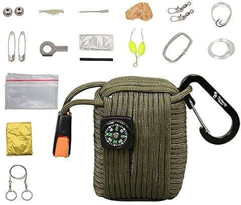 The Friendly Swede Kit de Survie Multi-Usage: 20 Accessoires (dont