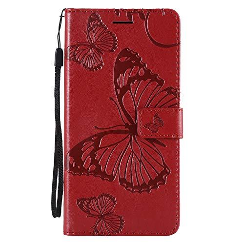 "Ledertasche BookStyle Luxus 3D Butterfly Slim Leder Hülle Schutzhülle Scratch Bumper Flip Folio Wallet Stand Case Card Slots Pocket Shell Magnetverschluß Etui Case für iPhone XS iPhone X 5,8"""