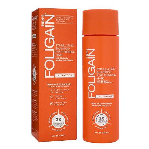 Foligain Shampoo Ricrescita Uomo | Trioxidil 2% | Combatte la Caduta dei Capelli e Rinforza il Cuoio Capelluto | Senza Parabeni e Solfati | Confezione Da 236ml